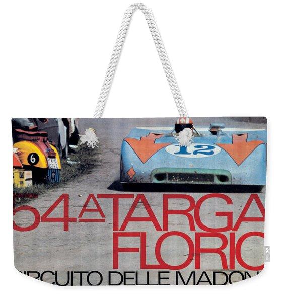 54th Targa Florio Porsche Race Poster Weekender Tote Bag