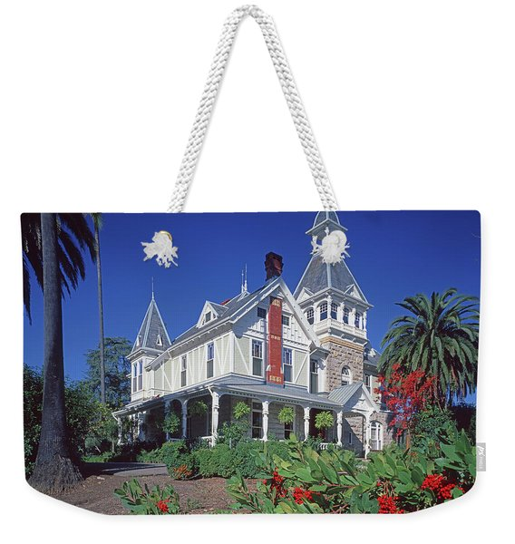 5b6386 Villa Miravalle Spring Mountain Vineyard Falcon Crest Weekender Tote Bag