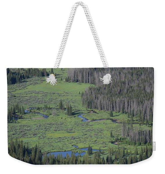 Scenery Rocky Mountain Np Co Weekender Tote Bag