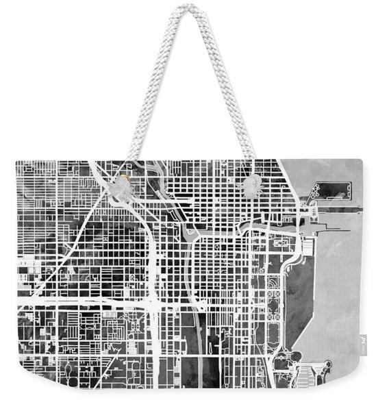 Chicago City Street Map Weekender Tote Bag