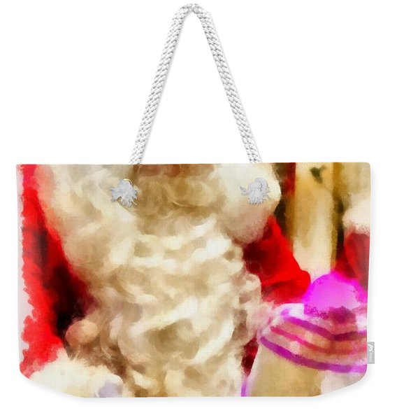 Christmas Santa Claus Weekender Tote Bag