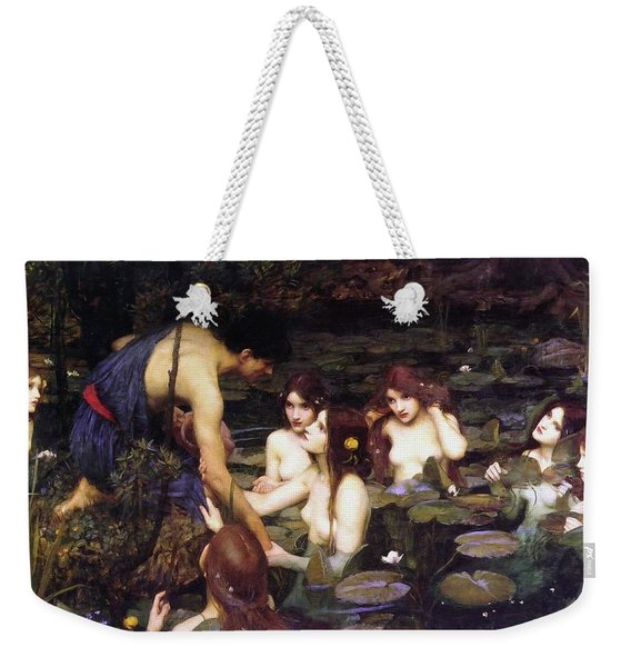 Hylas And The Nymphs Weekender Tote Bag