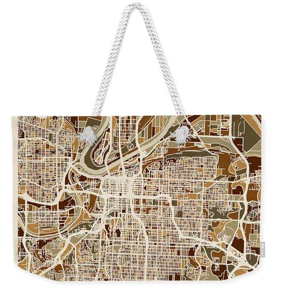 Kansas City Missouri City Map Weekender Tote Bag