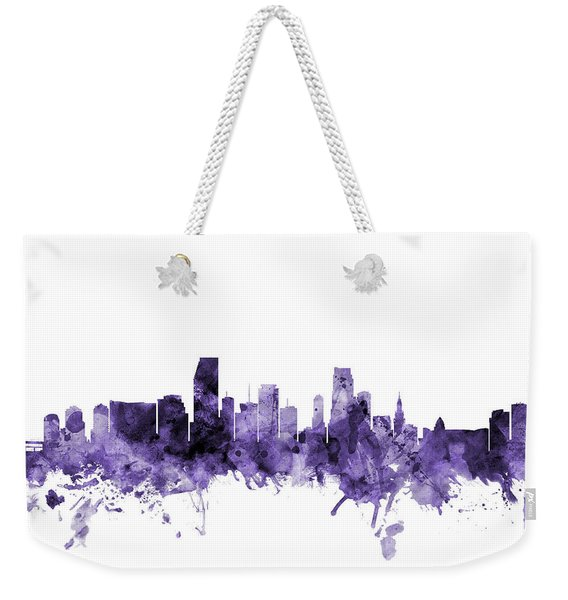 Miami Florida Skyline Weekender Tote Bag