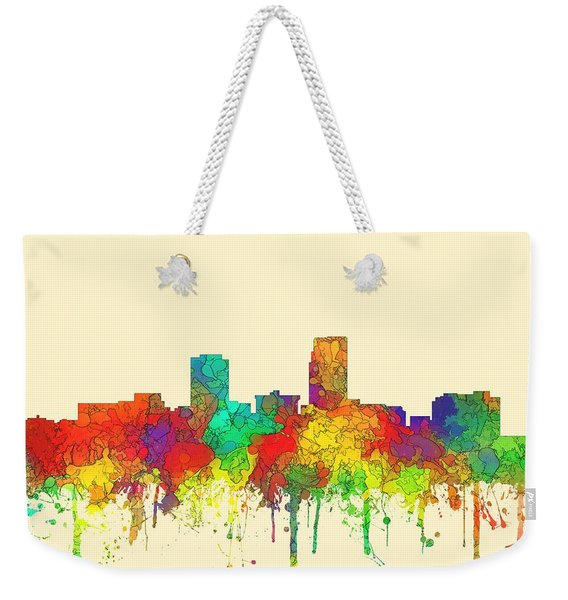 Omaha Nebraska Skyline Weekender Tote Bag