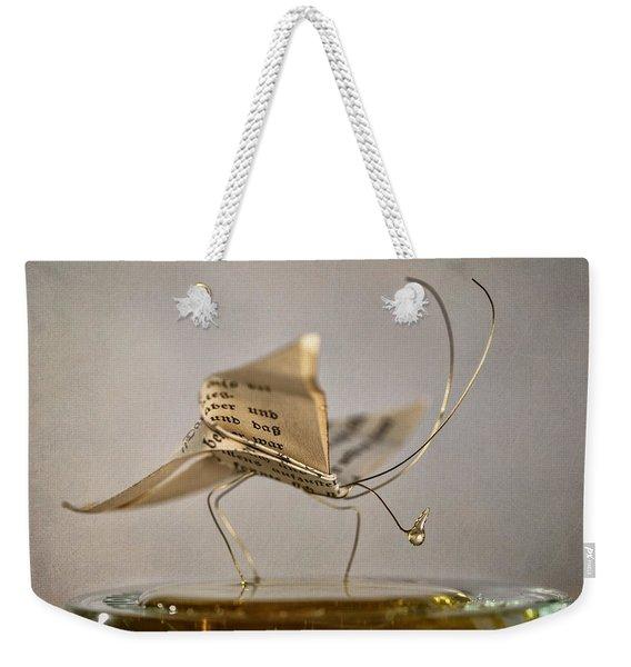 Paper Butterfly Weekender Tote Bag