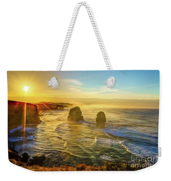 Weekender Tote Bag featuring the photograph Twelve Apostles Victoria by Benny Marty