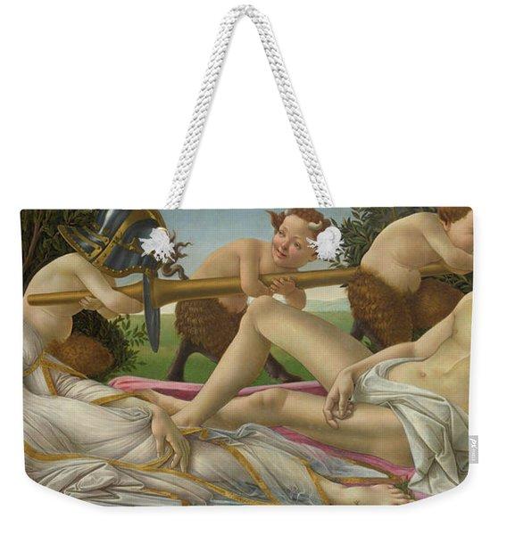Venus And Mars Weekender Tote Bag
