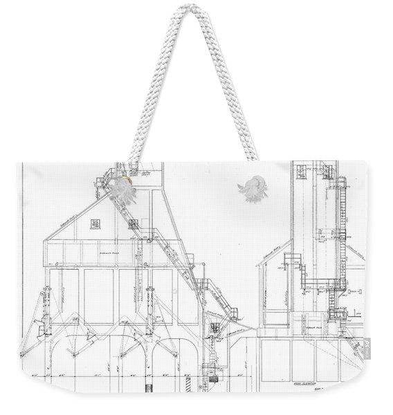 600 Ton Coaling Tower Plans Weekender Tote Bag