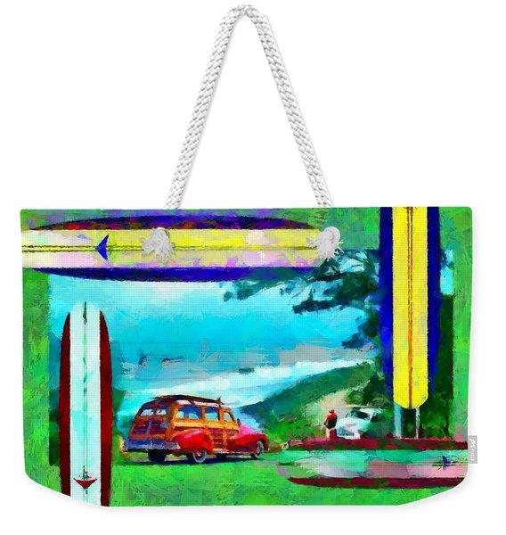 60's Surfing Weekender Tote Bag
