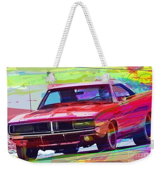 69 Dodge Charger  Weekender Tote Bag