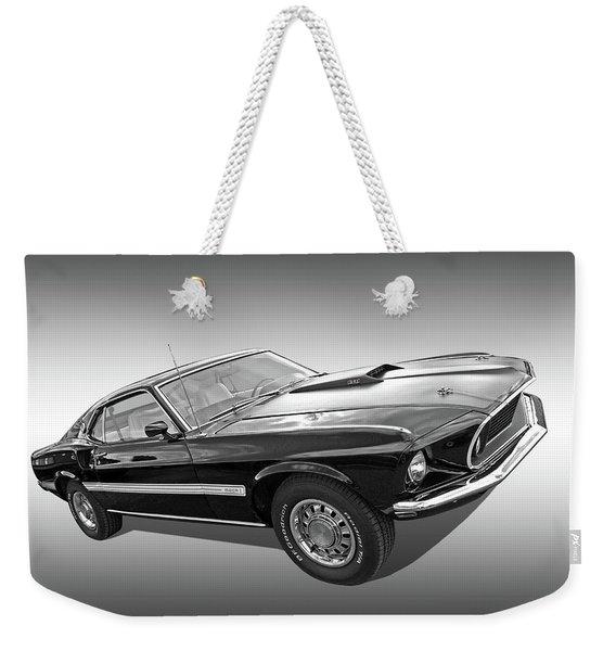 69 Mach1 In Black And White Weekender Tote Bag