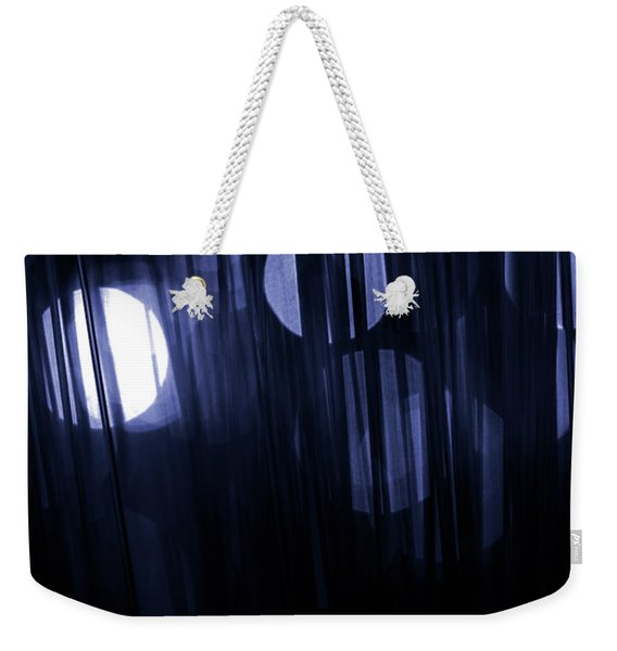 Weekender Tote Bag featuring the photograph Abstract Pattern Of Lights by Clayton Bastiani