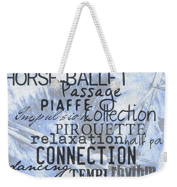 Be Equestrian Blue Weekender Tote Bag