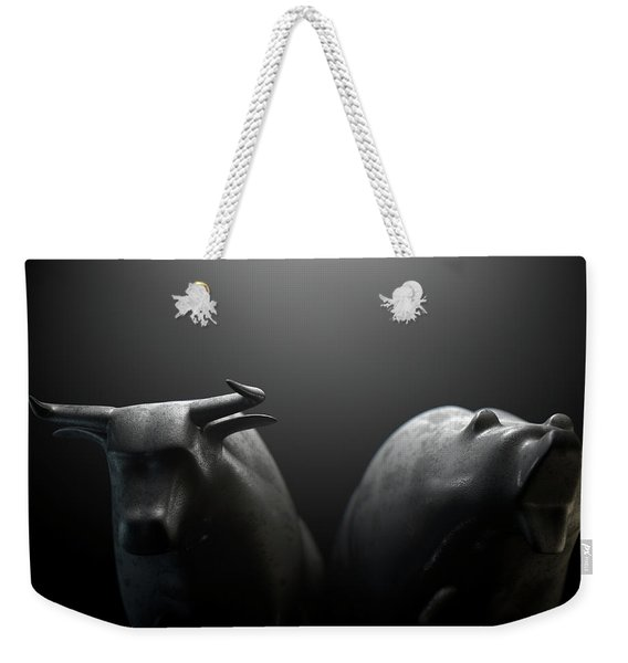Bull Versus Bear Weekender Tote Bag