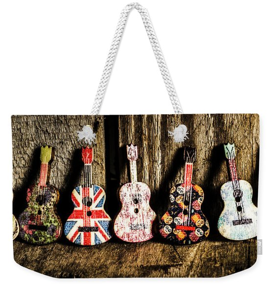 7 Continents Of Sounds Weekender Tote Bag