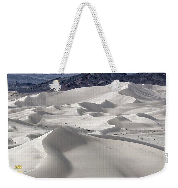 Weekender Tote Bag featuring the photograph Dumont Dunes 8 by Jim Thompson