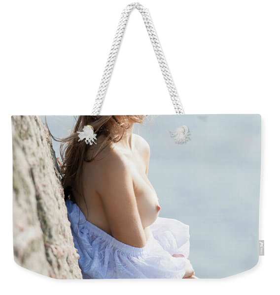 Girl In White Dress Weekender Tote Bag