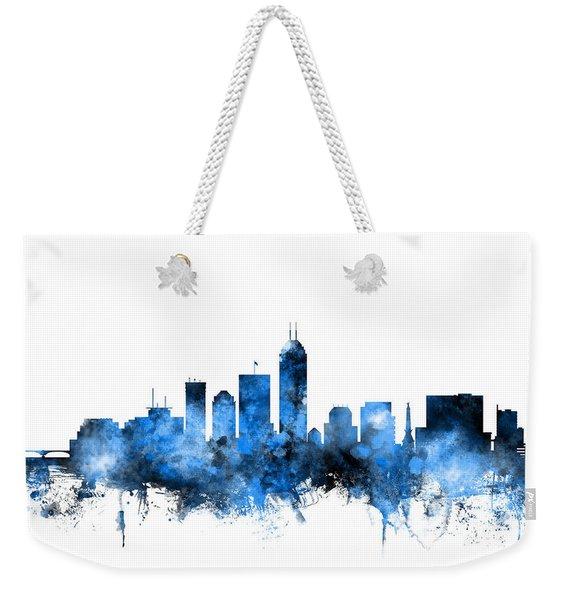 Indianapolis Indiana Skyline Weekender Tote Bag