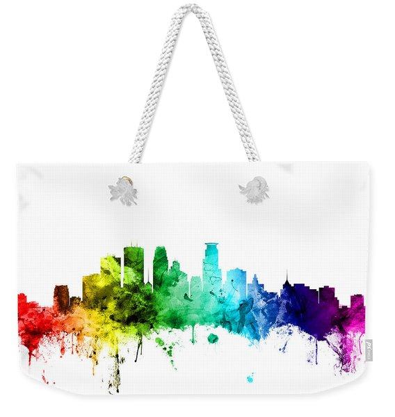 Minneapolis Minnesota Skyline Weekender Tote Bag