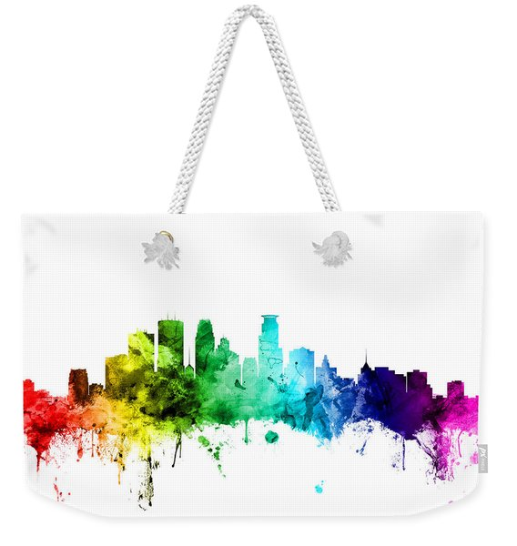 Minneapolis Minnesota Skyline Weekender Tote Bag
