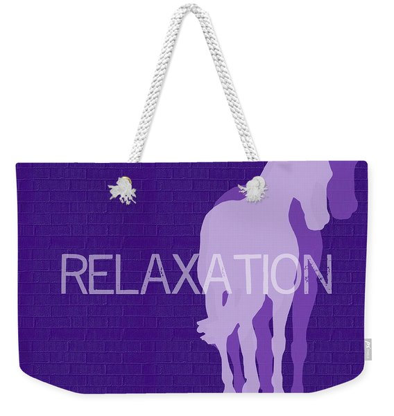 Relaxation Negative Weekender Tote Bag
