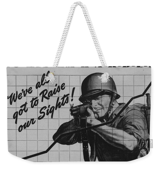 World War II Advertisement Weekender Tote Bag
