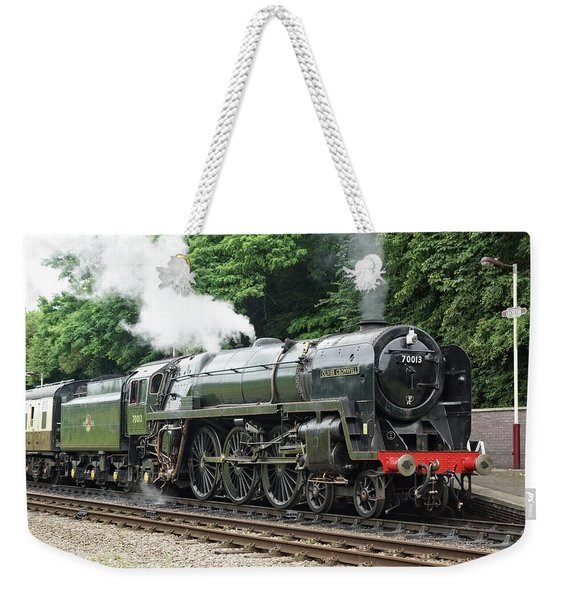 70013 Oliver Cromwell At Leicester Weekender Tote Bag