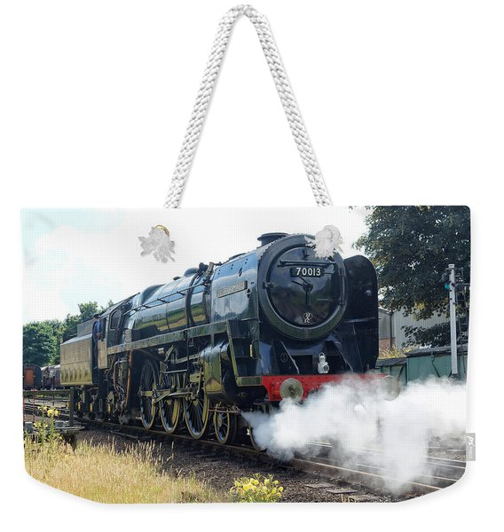70013 Oliver Cromwell At Loughborough Weekender Tote Bag