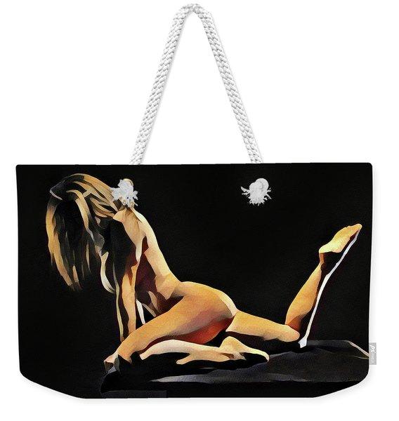 7038s-amg Watercolor Of Beautiful Mature Nude Woman Weekender Tote Bag