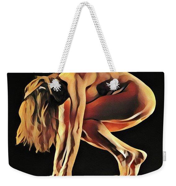 7188s-amg Nude Watercolor Of Sensual Mature Woman Weekender Tote Bag