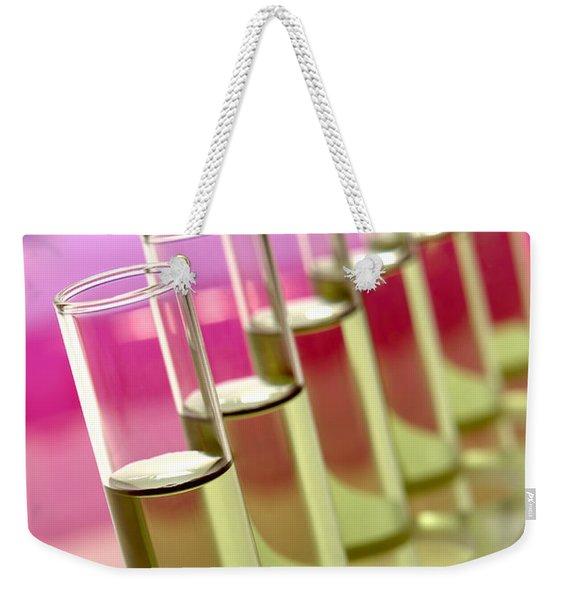 Test Tubes In Science Research Lab Weekender Tote Bag
