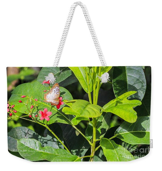 Weekender Tote Bag featuring the photograph Butterfly by Richard J Thompson