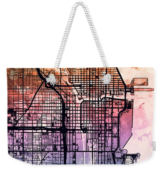 Chicago City Street Map Weekender Tote Bag