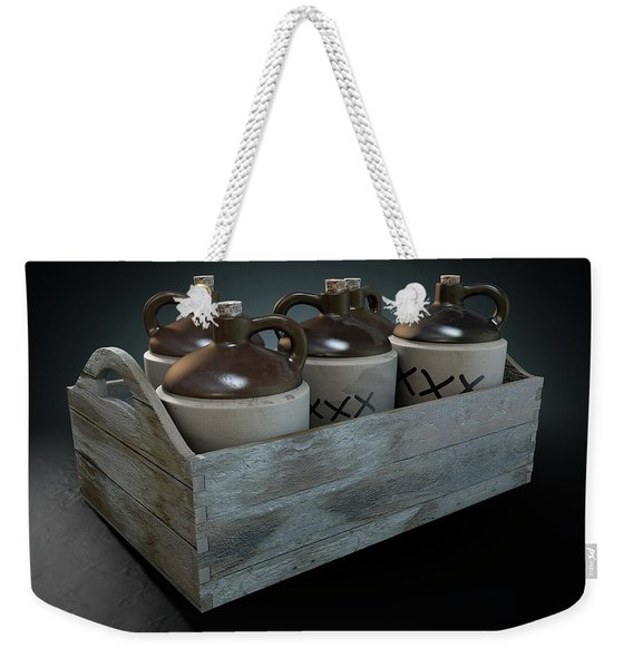 Moonshine In Wooden Crate Weekender Tote Bag