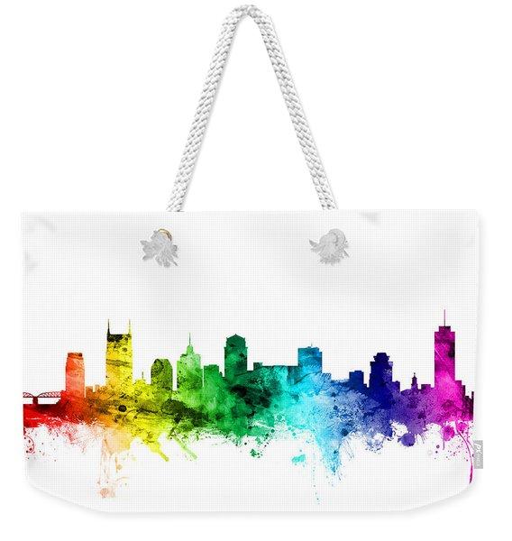 Nashville Tennessee Skyline Weekender Tote Bag