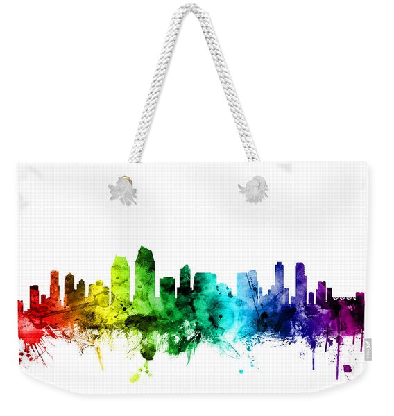 San Diego California Skyline Weekender Tote Bag