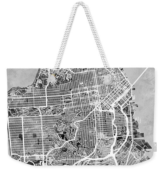 San Francisco City Street Map Weekender Tote Bag