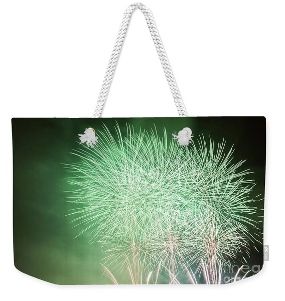 Spectacular Fireworks Show Light Up The Sky. New Year Celebration. Weekender Tote Bag