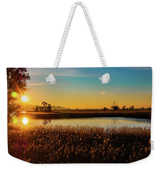 Sunrise In The Ditch Burlamacca Weekender Tote Bag
