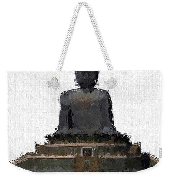 The Buddha, Pop Art By Mary Bassett Weekender Tote Bag