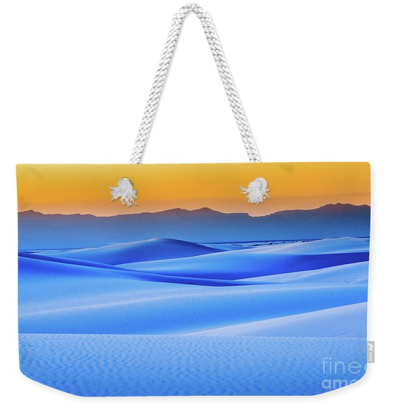 Blue And Gold Weekender Tote Bag
