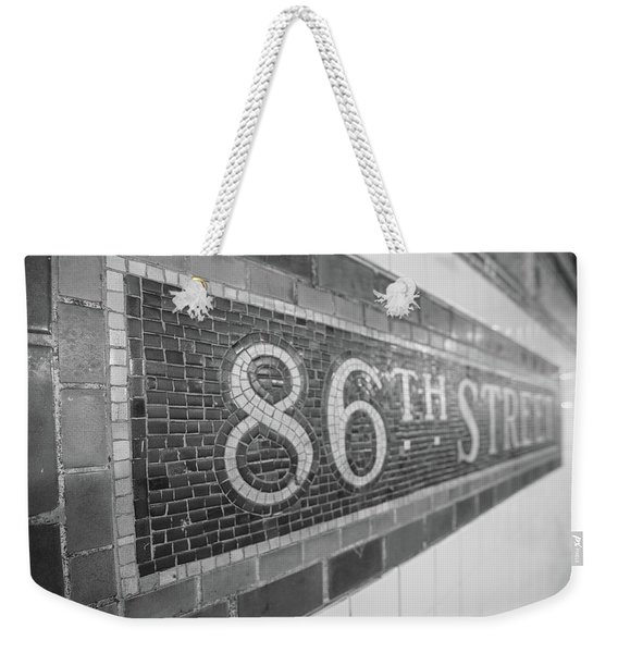 86th Street Subway  Weekender Tote Bag