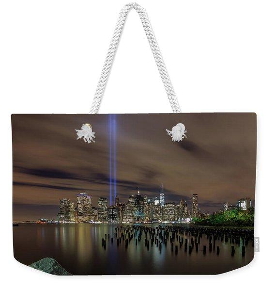 9/11 Tribute Lights 2016 Weekender Tote Bag