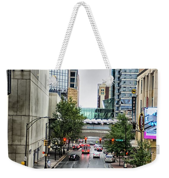 Charlotte North Carolina Views Around  Downtown Weekender Tote Bag