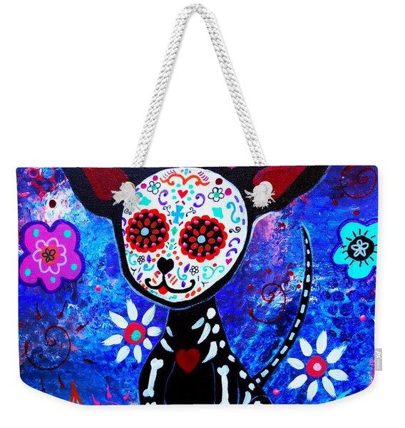 Chihuahua Dia De Los Muertos Weekender Tote Bag