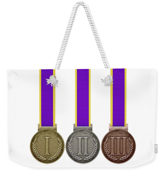 First Second And Third Medals Weekender Tote Bag