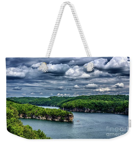 Long Point Summersville Lake Weekender Tote Bag