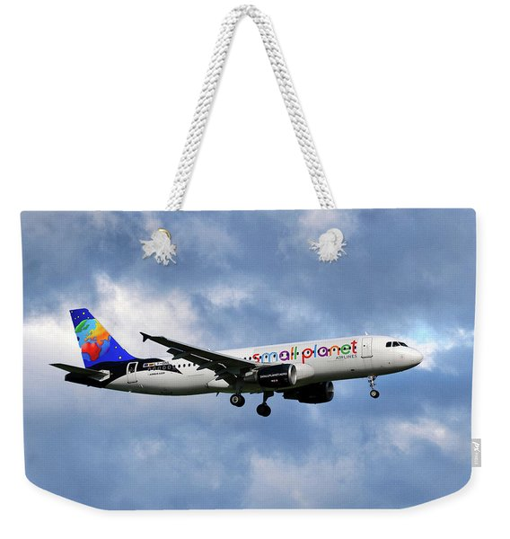 Small Planet Airlines Airbus A320-214 Weekender Tote Bag