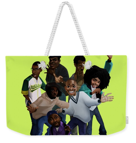 Weekender Tote Bag featuring the digital art 93 Till by Nelson Garcia